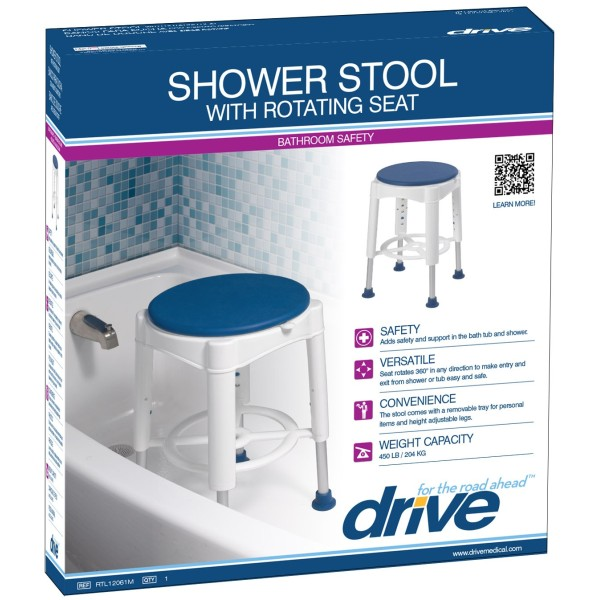 Shower Stool W Padded Rotating Seat Rtl12061 Homepro