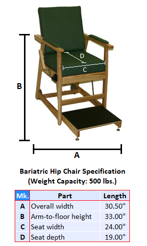 Bariatric Hip Chair Rental