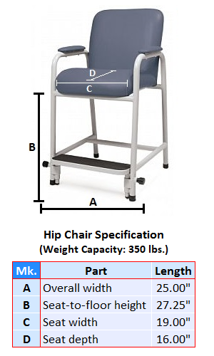 Regular Hip Chair Rental